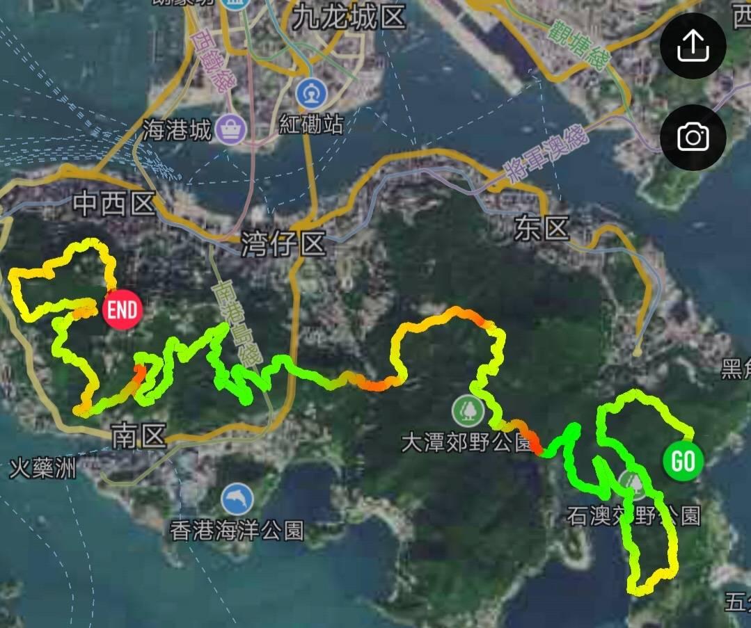 2018.12.30 港岛径50KM全程穿越【55户外毕业线】