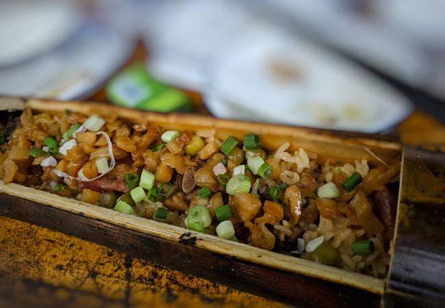 星溪吃鸡竹筒饭