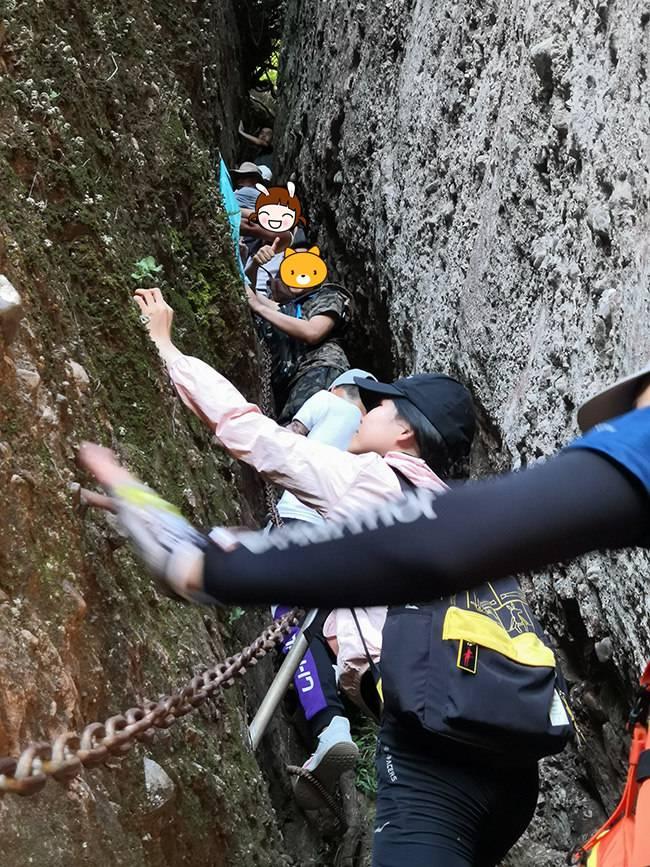 五五戶外博羅馬鞍山體驗攀巖 穿越一線天