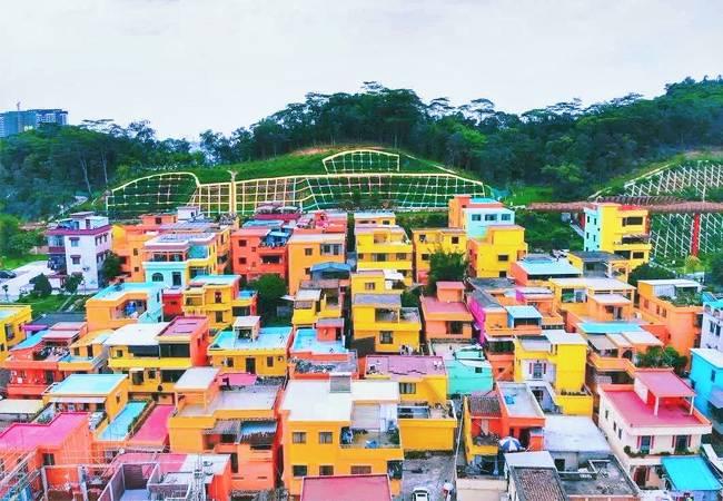 彩虹村·石板沙