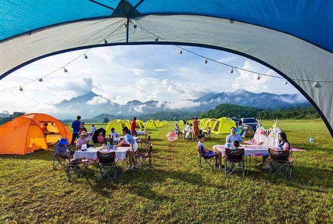 白盆珠露营