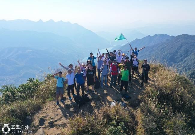 五五户外【登高望远】广州第二峰鸡枕山8公里穿越
