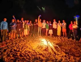狮子岛露营