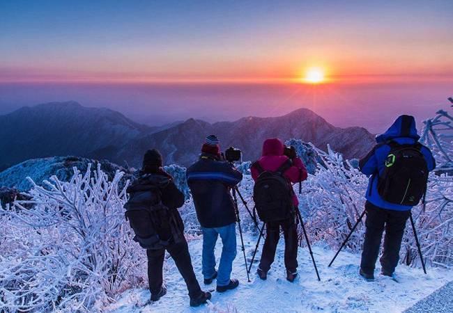 五五户外【冰雪衡山】湖南登祝融峰祈福赏绝美雾凇