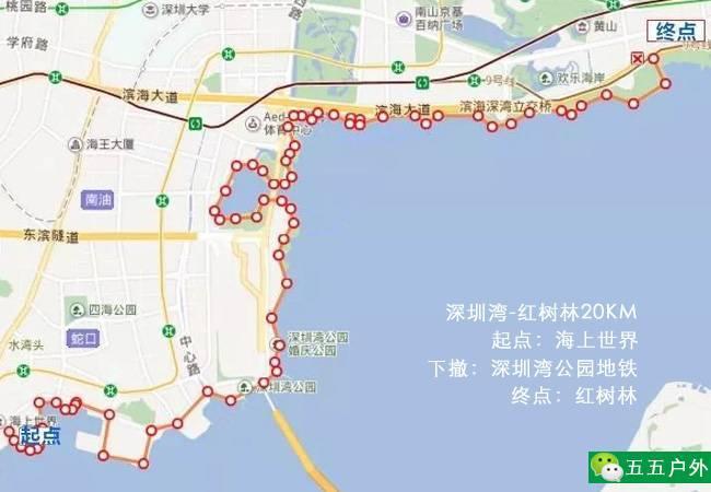 五五户外走遍深圳-深圳湾红树林20KM半日徒步