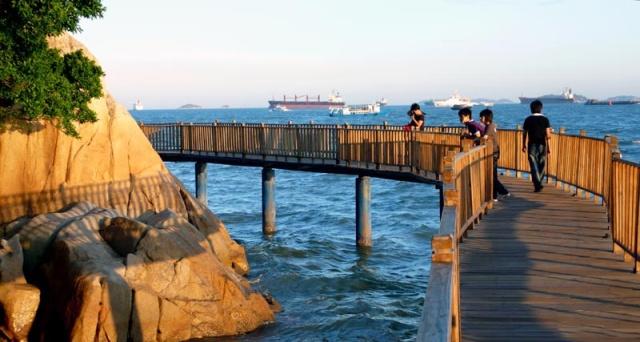 五五户外深圳海滨栈道全程20公里团队定制