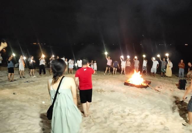 五五户外【海岛露营】惠州喜洲岛露营 篝火狂欢PARTY
