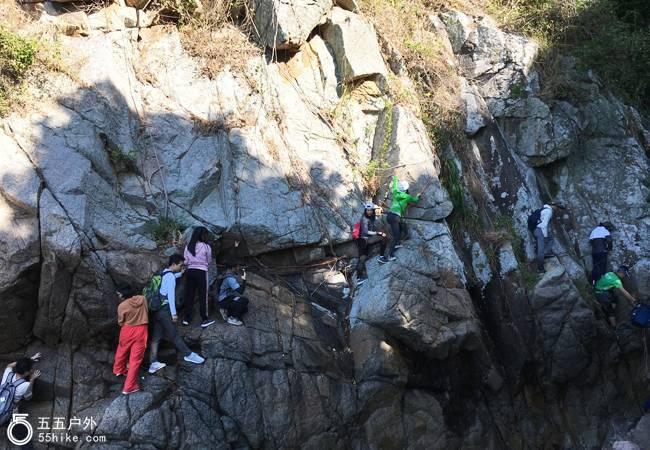 五五户外【攀岩挑战】洋畴湾、鹅公湾海岸线野线攀岩